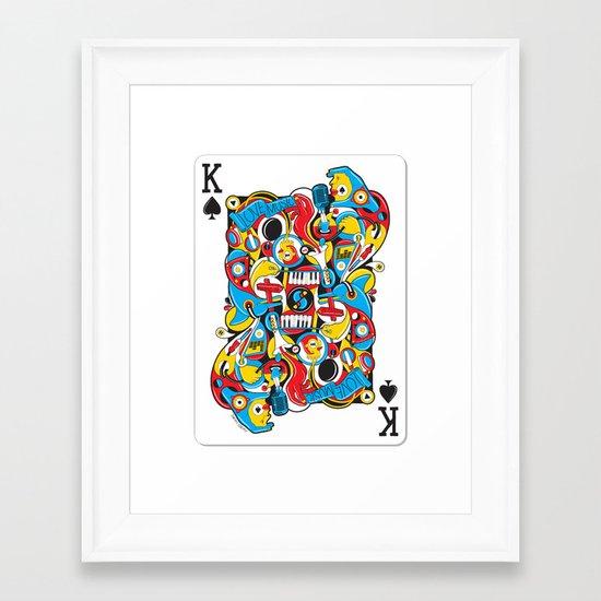 King Of Spades Framed Art Print