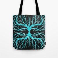 Ghostly Vines (Electric Blue Spirit) Tote Bag