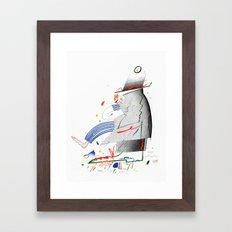 End of the Shift Framed Art Print