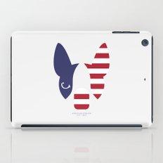 Boston Terrier: American Flag. iPad Case