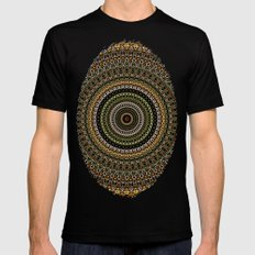 Fractal Kaleido Study 00… Mens Fitted Tee Black SMALL