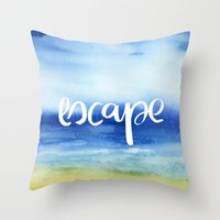 Escape [Collaboration with Jacqueline Maldonado] Throw Pillow