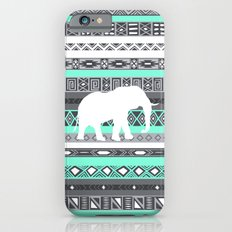 Tiffany Aztec White Elephant Pattern Design Slim Case iPhone 6s