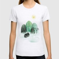 Mountains Womens Fitted Tee Ash Grey SMALL