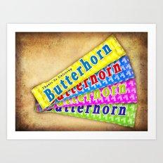 ButterHorn Unicorn Bar Art Print