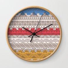 Aztec pattern Wall Clock