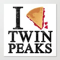 I Love Twin Peaks (Cherry Pie) Canvas Print