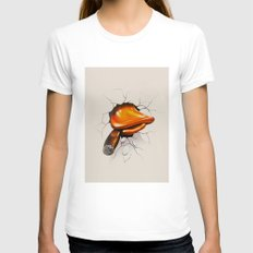 Howard Duck Womens Fitted Tee White SMALL