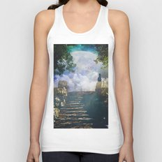 Moon Stairs Unisex Tank Top