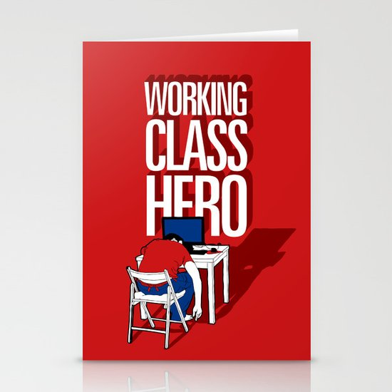 Working Class Hero Stationery Card