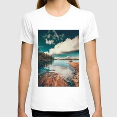 Belle Svezia Womens Fitted Tee White SMALL