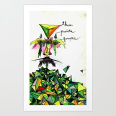 Three Points Forever Art Print