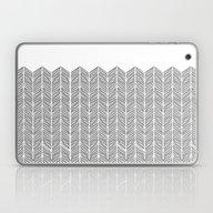 Hand Drawn Herringbone I… Laptop & iPad Skin