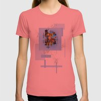 Blades Of Grass And Leaves In The Blue Sky Womens Fitted Tee Pomegranate SMALL