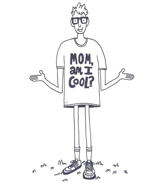 Mom, Am I Cool? Art Print