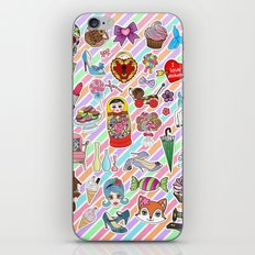 I Love Stickers iPhone & iPod Skin