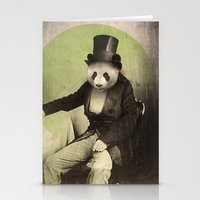 panda Stationery Cards featuring Proper Panda by Chase Kunz