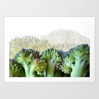 Broccoli Hills (Art of Food) Art Print