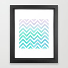 Fairy Dust Chevron Framed Art Print