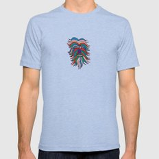 whacky wookie Mens Fitted Tee Tri-Blue SMALL
