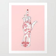 RUDE Art Print