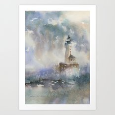 Stannard Rock Light Art Print