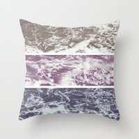 Saltwater tryptych Var I Throw Pillow