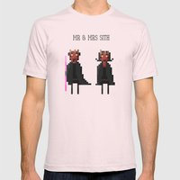 Mr & Mrs Sith Mens Fitted Tee Light Pink SMALL
