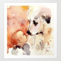 Nose To Snout Art Print
