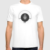 Old Skipping Record Mens Fitted Tee White SMALL