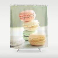 Pretty Macarons Shower Curtain