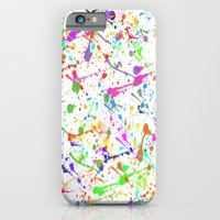 iPhone & iPod Case featuring Paint Splatter 2 - White by ParadiseApparel