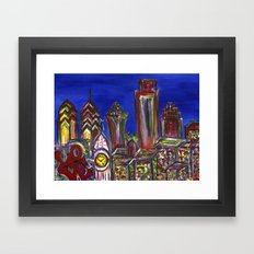Philly Skyline LOVE Framed Art Print
