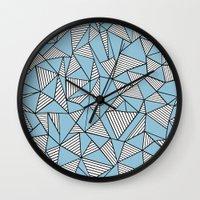 Ab Blocks Blue #2 Wall Clock