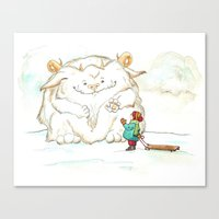 A Friendly Snow Monster Canvas Print