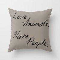 Love Animals Throw Pillow