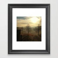 Misty Valley Framed Art Print