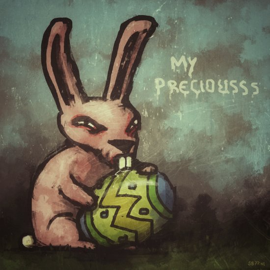 Evil Easter Bunny Art Print