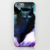 iPhone Cases featuring The Spooky Cat by minx267