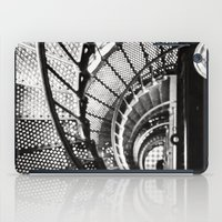 Spiral staircase black and white iPad Case