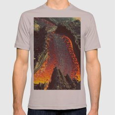Active Volcano in Guatemala Mens Fitted Tee Cinder SMALL
