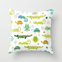 Critters Throw Pillow