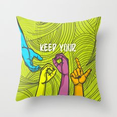 Keep Cool Throw Pillow