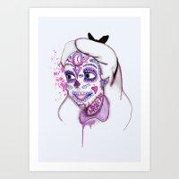 Sugar Skull Alice Art Print