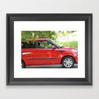 Yorkie Driving Framed Art Print