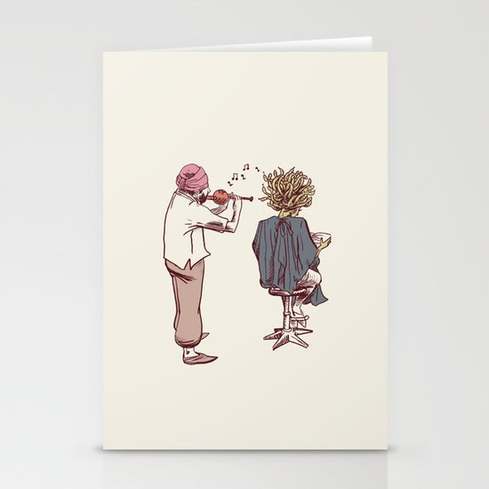 New Hairstyle Stationery Card