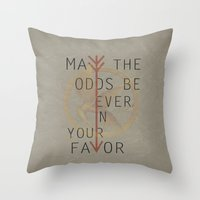 The Hunger Games Poster … Throw Pillow