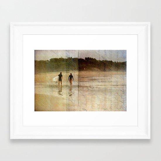 Surfer Love Framed Art Print