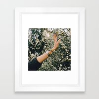 Touch the spring Framed Art Print