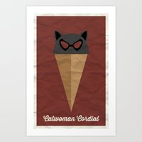 Catwoman Cordial Art Print